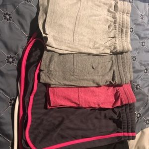 Lot of exercise shorts